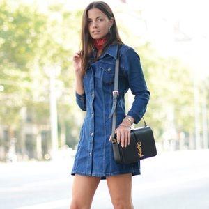 b4d73c2d Zara Dresses | Long Sleeve Denim Mini Dress New Wtags | Poshmark